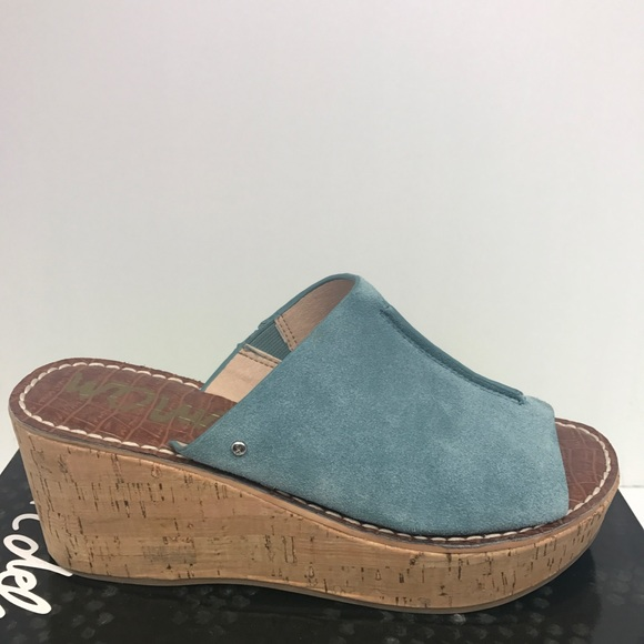 aca1c00959c6 Sam Edelman Ranger Wedge in Blue Shadow. M 5b0ed70d46aa7c23fb1022ea